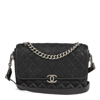 Chanel Caviar Leather, Suede & Leather Rock My Shoulder Bag