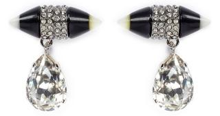Givenchy Black Spike Magnetic Earrings