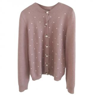 Chanel faux-pearl embellished cardigan
