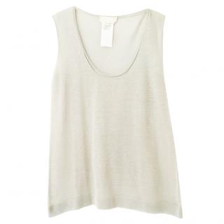 MaxMara scoop-neck metallic-knit sleeveless top
