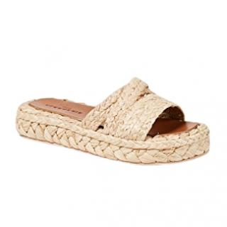 Robert Clergerie braided-raffia slides