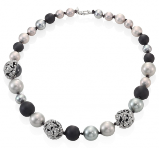 Alexis Bittar Crystal-encrusted Mosaic Lace Short Faux Pearl Necklace