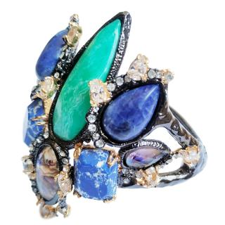Alexis Bittar semi-precious stone embellished bracelet