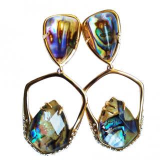 Alexis Bittar Havisham Kinetic Moonstone clip-on earrings