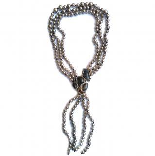 Alexis Bittar labradorite multi-strand necklace