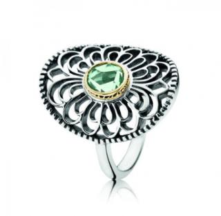 Pandora Vintage Allure 14k Gold & Silver Ring