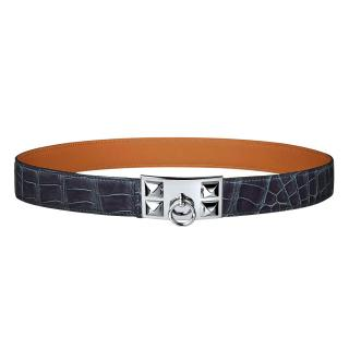 Hermes Collier purple crocodile belt