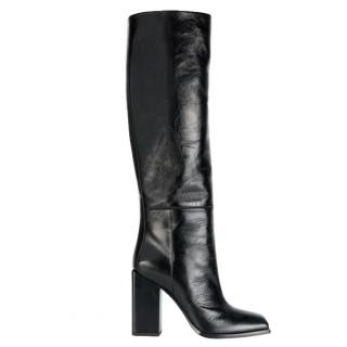 Saint Laurent Black Jodie 110 Leather Knee Boots