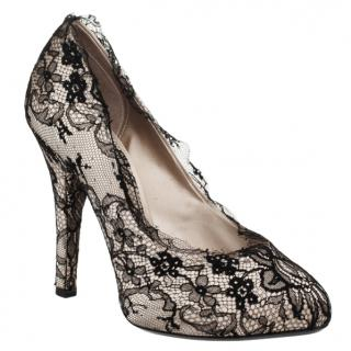 Dolce & Gabbana Satin & Lace Pumps