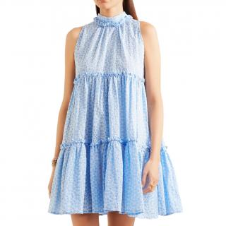 Lisa Marie Fernandez Erica ruffled broderie anglaise cotton mini dress