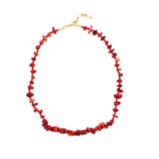 Anni Lu Red Reef Coral Beaded Necklace
