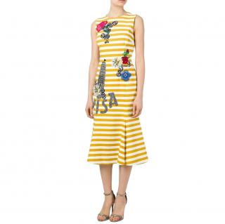 Dolce & Gabbana Yellow Striped Pisa Dress