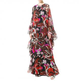 262facd2 Emilio Pucci Printed Kaftan-Style Gown