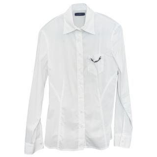 Trussardi White Fine Cotton Shirt
