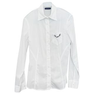 Trussardi White Fine Cotton Shirt