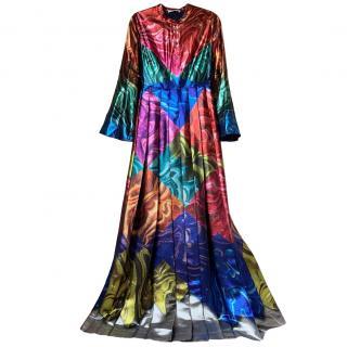 Mary Katrantzou Resort '18 Pleated Metallic Dress