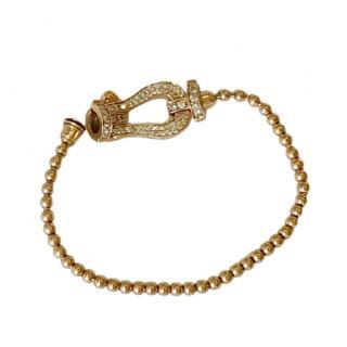 Bespoke Rose Gold Diamond Set Fred Bracelet