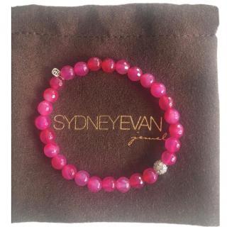 Sydney Evan Pink Sapphire Bead & 0.32ct Diamond Bracelet