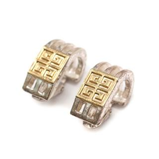 Givenchy Vintage Monogram Clip Earrings