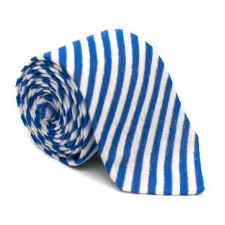 AD56 Milano Blue & White Striped Tie