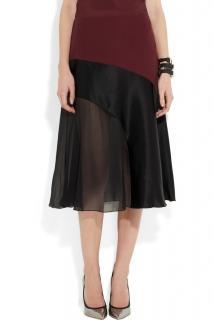 Jonathan Saunders Georgia paneled crepe & silk skirt