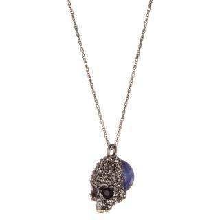 Alexis Bittar Swarovski Skull Pendant Necklace