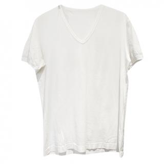 Dolce & Gabbana White V-neck T-shirt