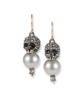 b48ccc373726 Alexis Bittar Crystal Encrusted Skull Pearl Drop Earrings
