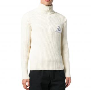 Gosha Rubchinskiy logo-applique ribbed sweater