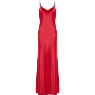 Galvan Red Satin Slip Gown