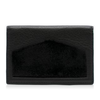 Oh! By Kopenhagen Fur Black Leather Wallet