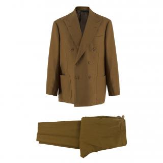 Cerrato & Gianni Volpe Bespoke Tan Brown Suit Trousers