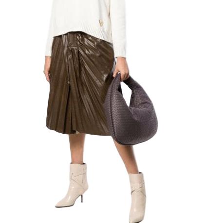 Bottega Veneta Grey leather hobo bag