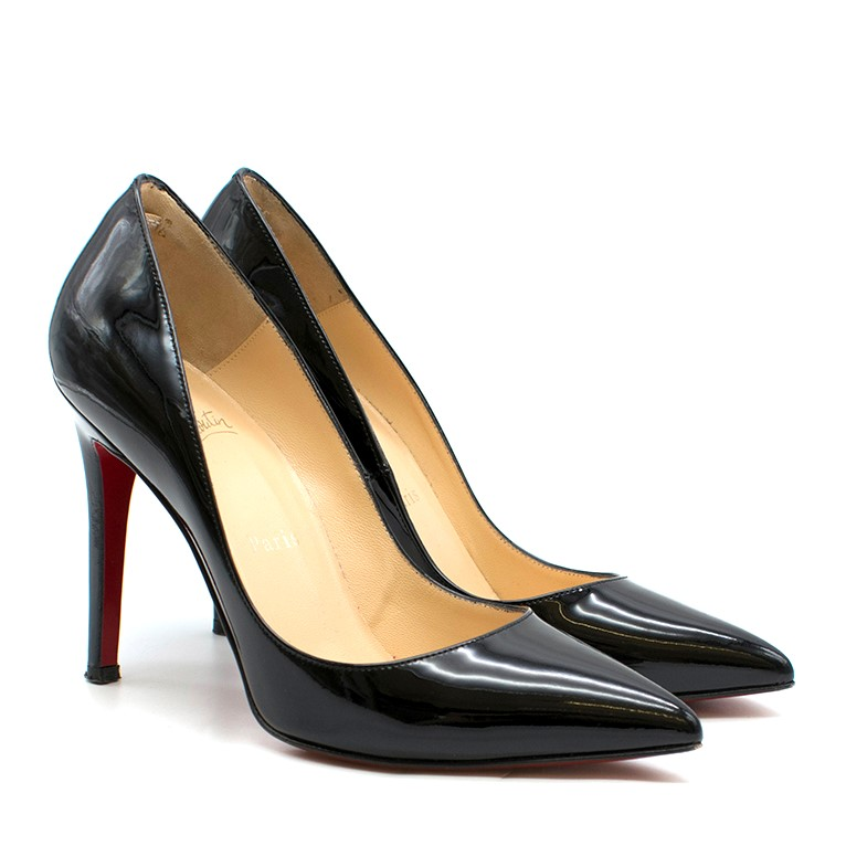 best service fd195 6c75d Christian Louboutin Nude Patent Leather So Kate 100mm Pumps
