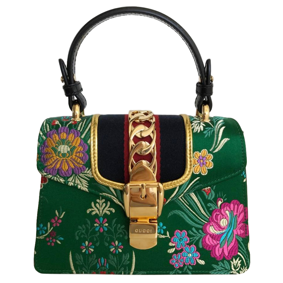 Gucci Sylvie Mini floral-jacquard bag