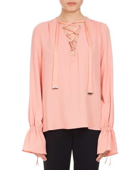 Altuzarra Coral Ruffle Sleeved Blouse