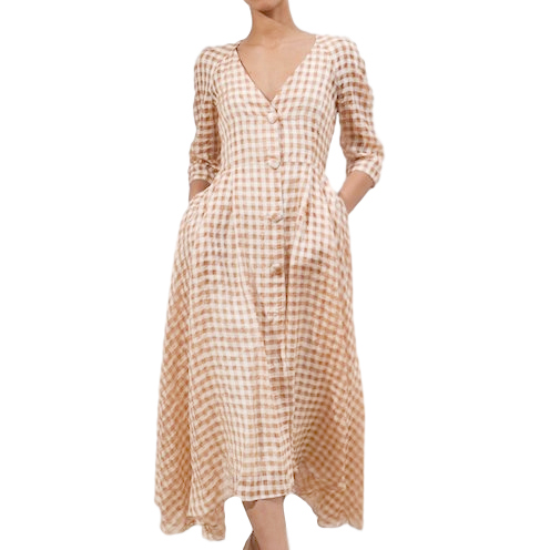 Isa Arfen Amalfi Gingham Dress