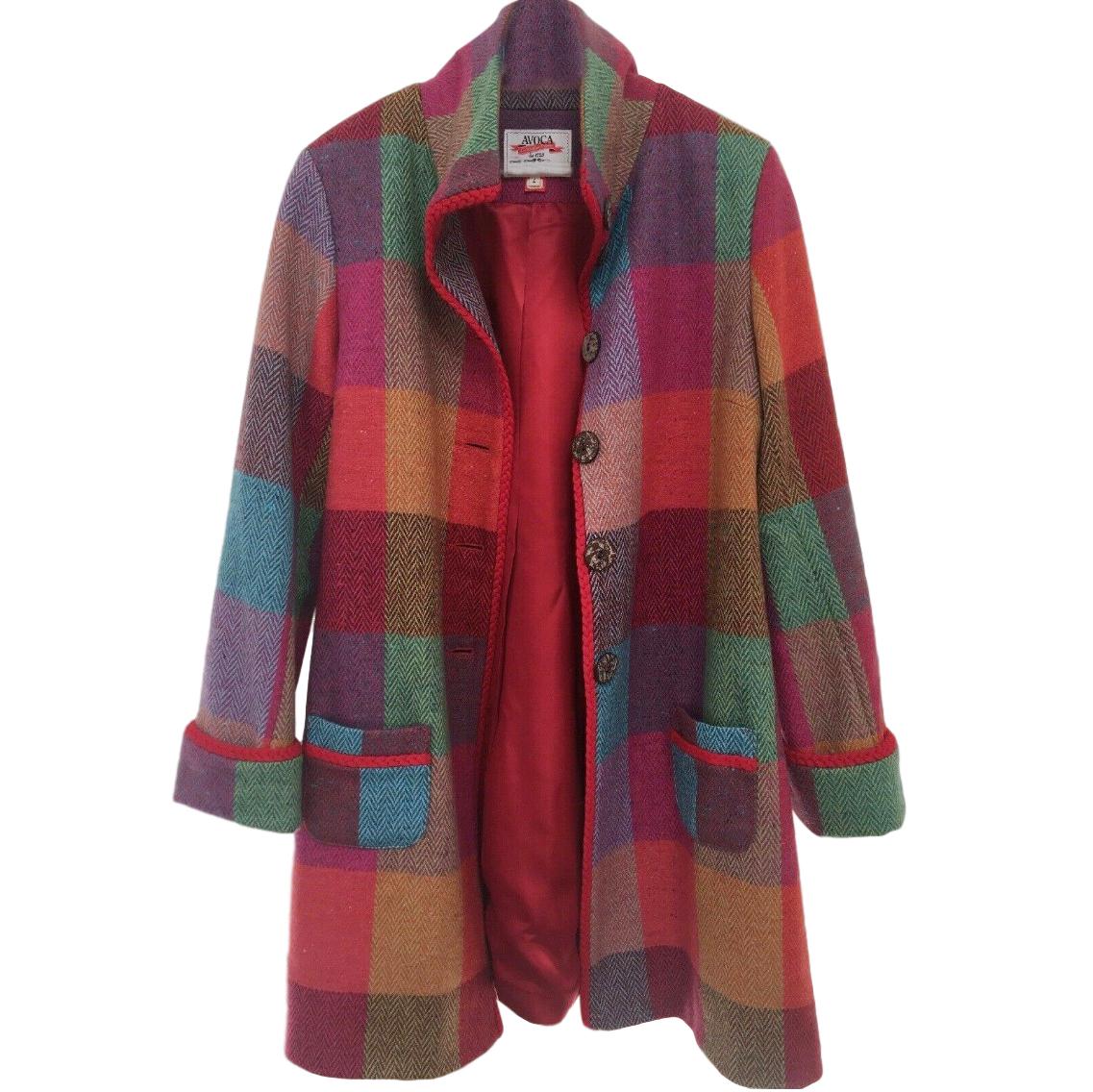 Avoca Checked Wool Poetry Coat