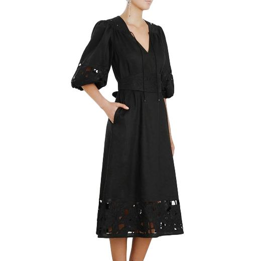 Zimmermann Juno Embroidered-Yoke Dress