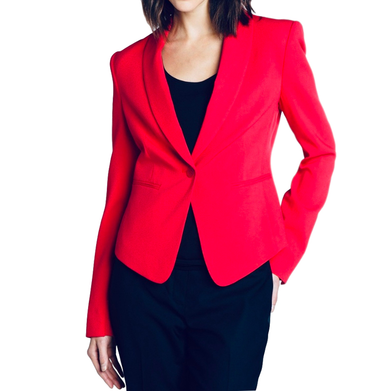 BCBG Max Azria single-breasted red blazer