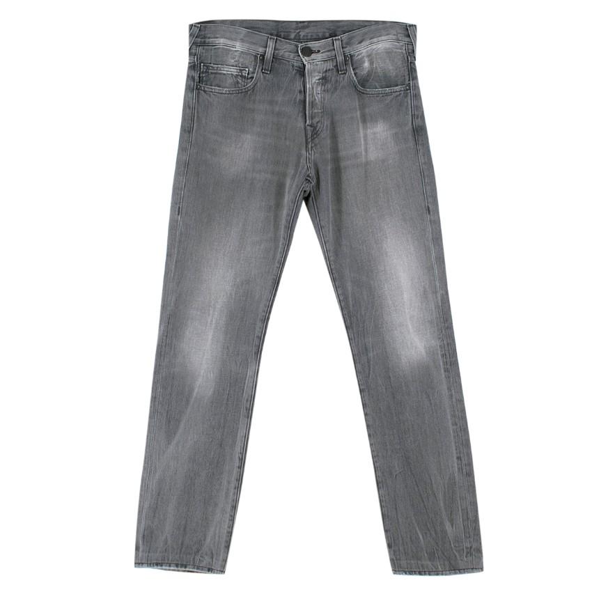 True Religion Grey Cotton Straight Jean Trousers