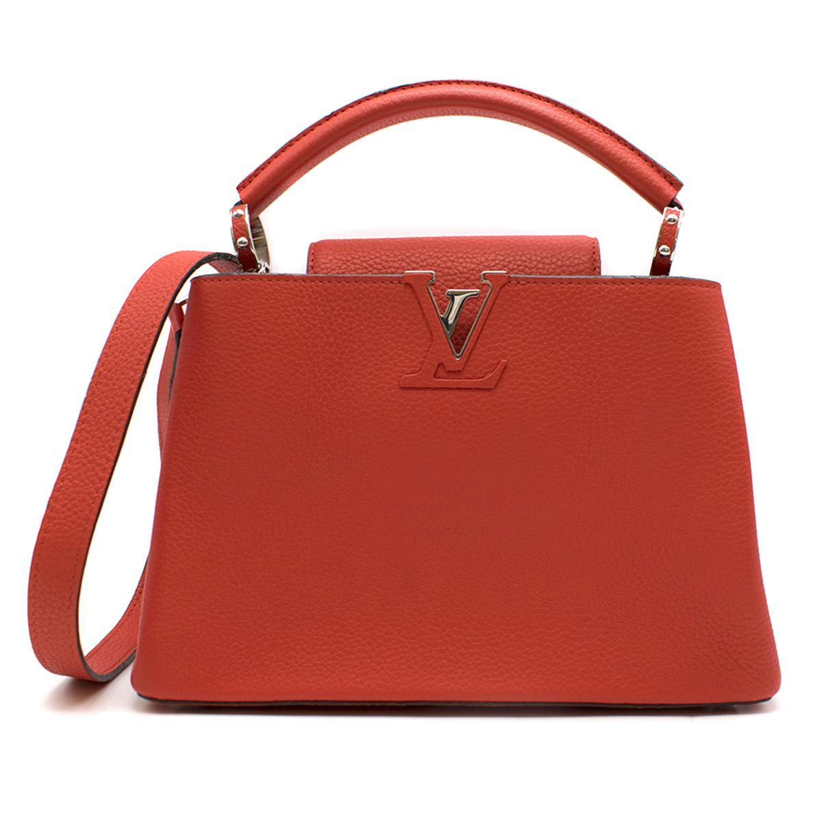 Louis Vuitton Red Capucines BB Shoulder Bag