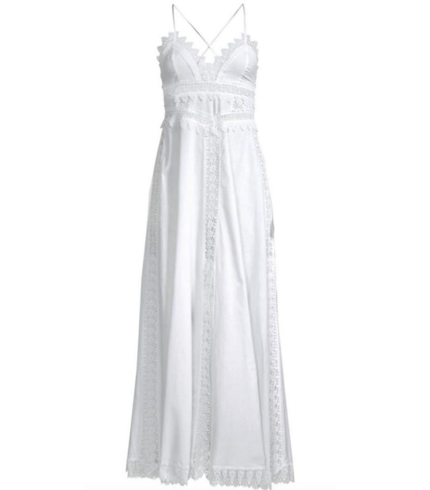 Charo Ruiz Ibiza white crochet maxi dress