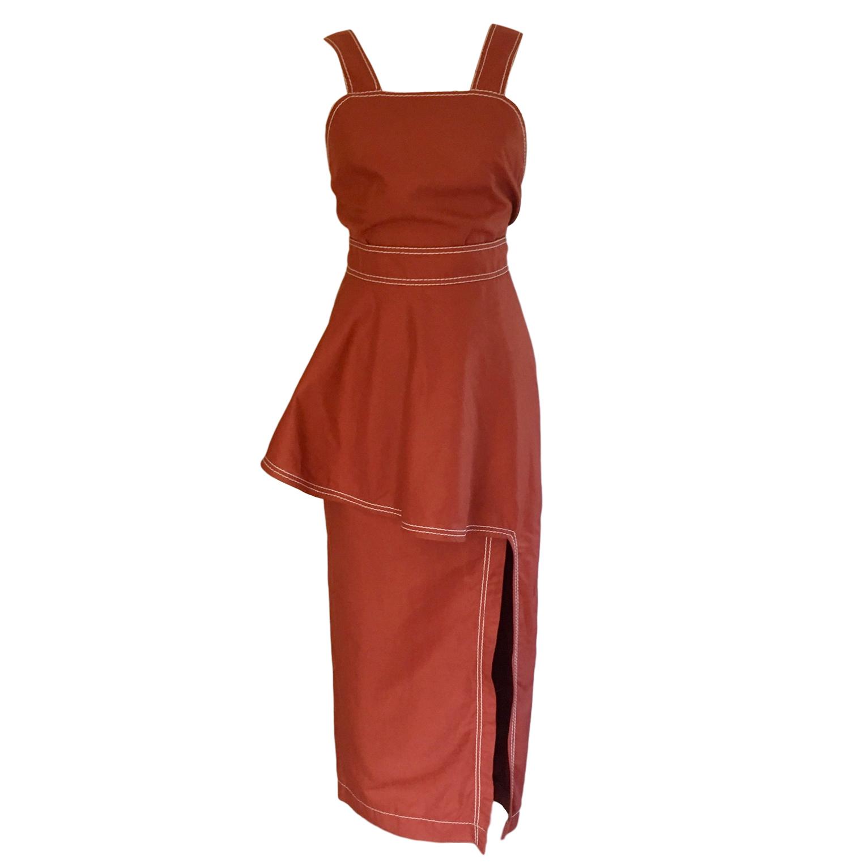 Stella McCartney Rust Linen Blend Dress
