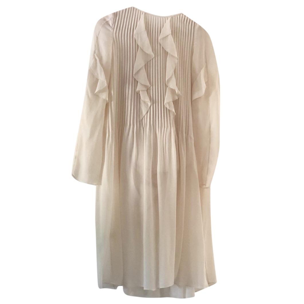 Athe by Vanessa Bruno Silk Ivory Dress