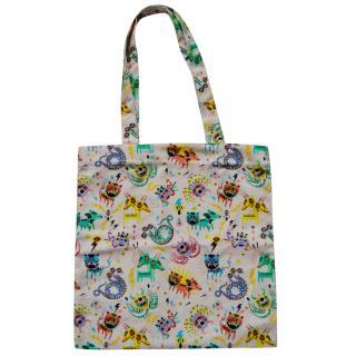 Gucci printed cotton tote bag