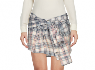 Faith Connexion Mini Check Shirt Skirt