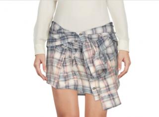 Faith Connexion Mini Check Shirt Skirt