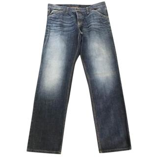 Gucci Men's Mens Dark Stonewashed Jeans