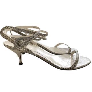 Bally multi-strap python sandals